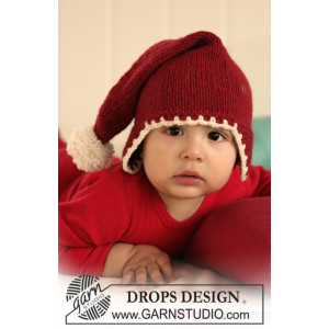 Santa Baby by DROPS Design - Baby Nisselue Strikkeoppskrift str. 1 mdr - 4 år