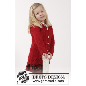 Bright Sally by DROPS Design - Jakke Strikkeopskrift str. 2 år - 11/12 år