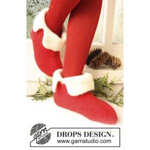 Santa Toe by DROPS Design - Tøfler Filtet Strikkeopskrift str. 21/23 - 45/48
