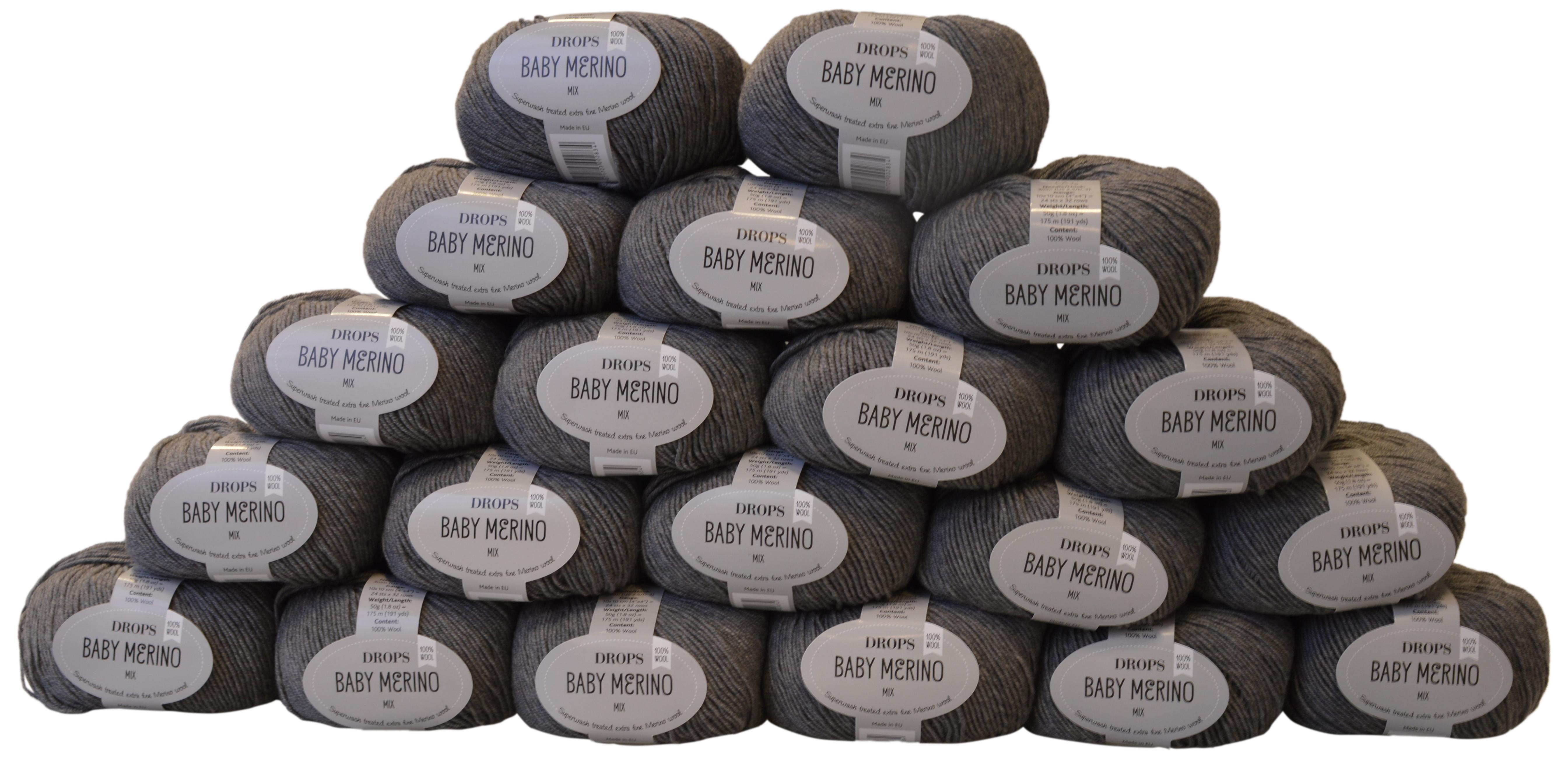 drops baby merino garnpakke mix 19 gr 20 stk. Black Bedroom Furniture Sets. Home Design Ideas
