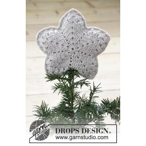 Top That! by DROPS Design - Stjerne Hekleoppskrift 20x20 cm