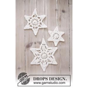 Wishing Stars by DROPS Design - Jule Stjerner Hekleopskrift 3 størrelser