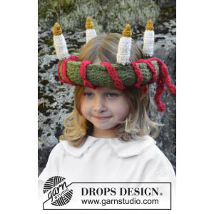 Little Lucia by DROPS Design - Luciakrone Hekleopskrift 63 cm