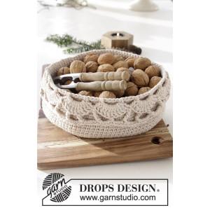 Treat Yourself by DROPS Design - Kurv Hekleoppskrift 20x10 cm