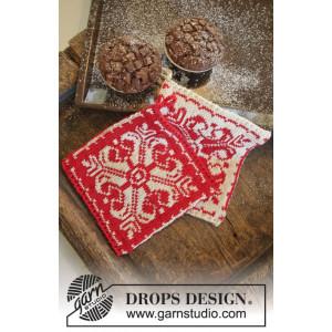 Baking Christmas by DROPS Design - Grytelapper Strikkeopskrift 20x19 cm - 2 stk