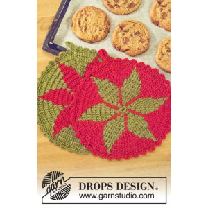 Santa's Recipe by DROPS Design - Gryteklut Hekleoppskrift 24 cm - 2 stk