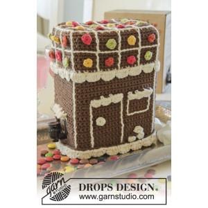 A Toast to Christmas! by DROPS Design - Vinkartong trekk Hekleoppskrift 21 cm