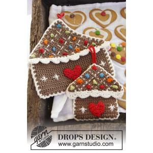 Home Sweet Home by DROPS Design - Grytekluter Hekleoppskrift 16x15 eller 23x23 cm