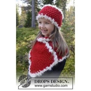 Santa's Little Helper by DROPS Design - Pannebånd og halsdisse Strikkeoppskrift 3-12 år
