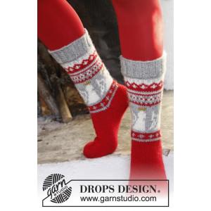 Angel Feet by DROPS Design - Sokker Strikkeoppskrift str. 32 - 43
