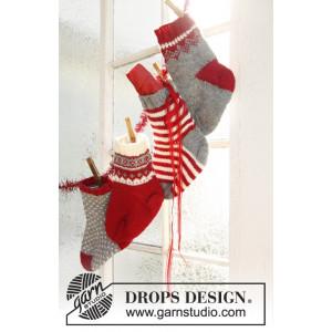 Kringle Toes by DROPS Design - Kalendersokker Julepynt Strikkeoppskrift