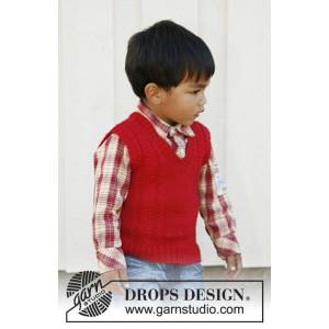 Justus by DROPS Design - Vest Strikkeopskrift str. 3/4 -11/12 år