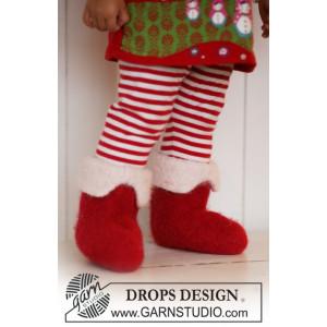 Nissefutter by DROPS Design - Baby juletøfler Strikkeopskrift str. 21/23 - 45/48