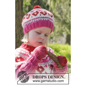 Warmhearted Hat by DROPS Design - Lue Strikkeoppskrift str. 12/24 mdr - 3/6 år