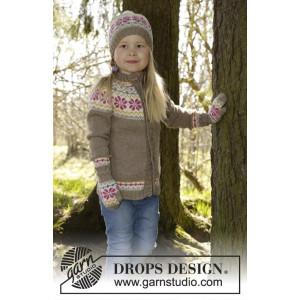 Prairie Fairy by DROPS Design - Jakke Strikkeoppskrift str. 3/4 - 11/12 år