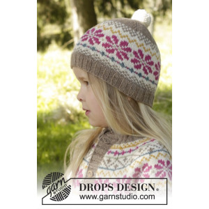 Prairie Fairy Hat by DROPS Design - Lue Strikkeoppskrift str. 3 - 12 år
