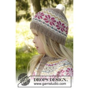 Prairie Fairy Hat by DROPS Design - Lue Strikkeopskrift str. 3/5 - 9/12 år