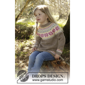 Prairie Fairy Jumper by DROPS Design - Genser Strikkeopskrift str. 3/4 - 11/12 år