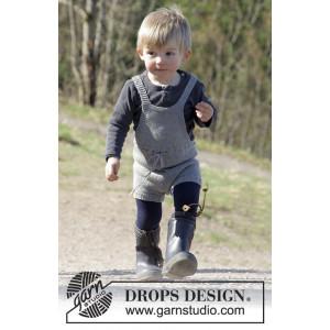 The Little Lumberjack by DROPS Design - Legedrakt Strikkeoppskrift str. 1 - 24 mdr