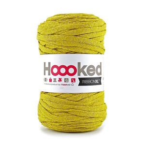 Hoooked Ribbon XL Stoffgarn Unicolor SP5 Oker