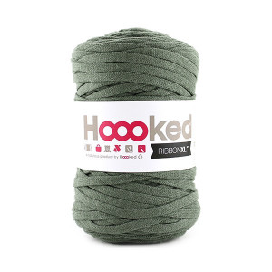 Hoooked Ribbon XL Stoffgarn Unicolor SP6 Armygrønn