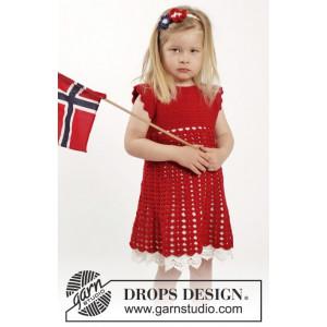 Princess Matilde by DROPS Design - Kjole og Hårbånd Hekleoppskrift str. 2 år - 10 år