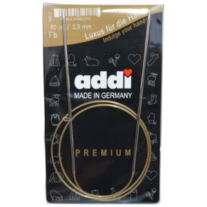 Bilde av Addi Turbo Rundpinner Messing 80cm 2,50mm / 31.5in Us1½
