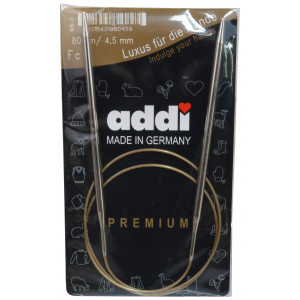 Addi Turbo Rundpinner Messing 80cm 4,50mm / 31.5in US7