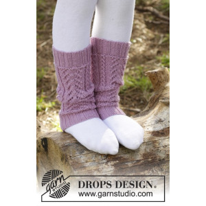 Raspberry Cream by DROPS Design - Leggvarmere Strikkeoppskrift 24 cm
