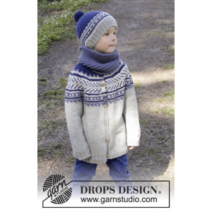 Little Adventure Jacket by DROPS Design - Jakke Strikkeoppskrift str. 3 - 12 år