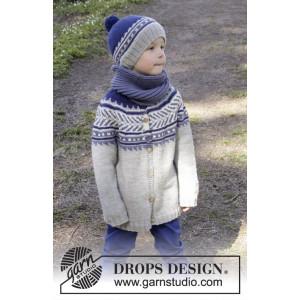 Little Adventure Jacket by DROPS Design - Jakke Strikkeopskrift str. 3/4 - 11/12 år