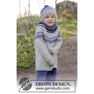 Little Adventure by DROPS Design - Genser Strikkeoppskrift str. 3 - 12 år