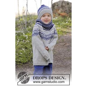 Little Adventure by DROPS Design - Genser Strikkeopskrift str. 3/4 - 11/12 år