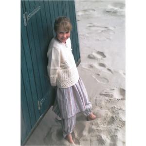 Mayflower Barne Tunika med hullmønster - Tunika Strikkeopskrift str. 2 år - 12/14 år