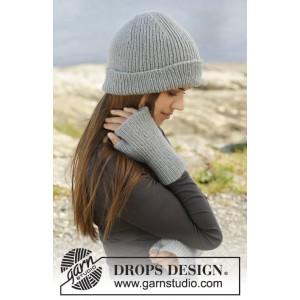 Paula by DROPS Design - Lue og Fingerløse Hansker strikkeopskrift str. S/M - M/L