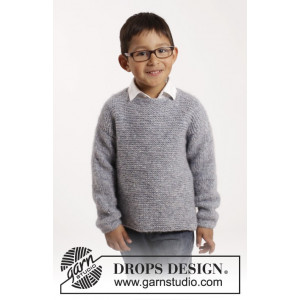 Modest Michael by DROPS Design - Genser Strikkeoppskrift str. 12 mdr - 10 år