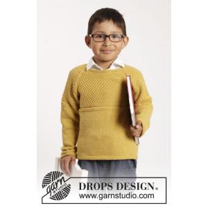 Clever Clark by DROPS Design - Genser Strikkeoppskrift str. 12 mdr - 10 år