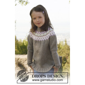 Silje jumper by DROPS Design - Genser Strikkeopskrift str. 3/4 - 11/12 år