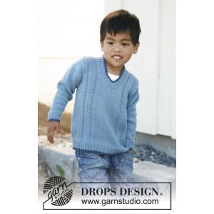 Julien by DROPS Design - Genser Strikkeoppskrift str. 3 - 12 år