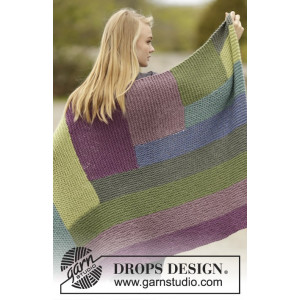 Colorblock by DROPS Design - Teppe Strikkeoppskrift 130x88 cm