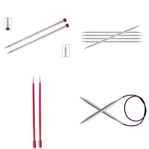 Strikkepinner delt inn etter mm størrelse