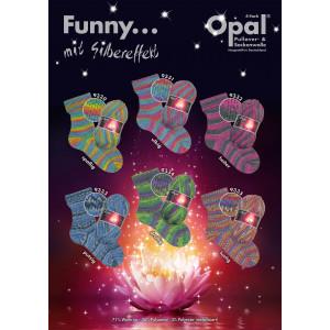 Opal Funny med glimmer 4-trådet