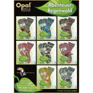 Opal Abenteuer Regenwald 4-trådet
